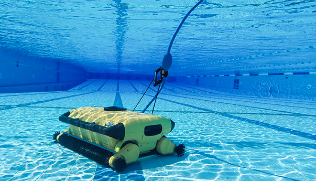 Dolphin wave 300 xl poseidon for Balayeuse robot piscine